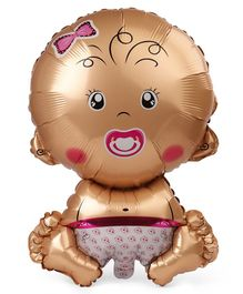 B Vishal Baby Girl Foil Balloon - Pink & Golden