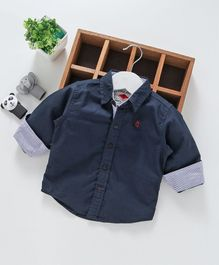 Gini & Jony Full Sleeves Solid Shirt - Navy Blue