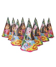 Dora Party Paper Caps Multicolour - Pack of 10