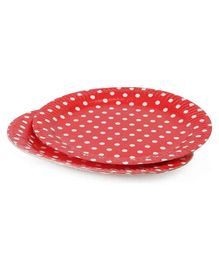 B Vishal Polka Dots Paper Plates Red - Pack of 10