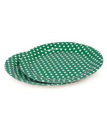 B Vishal Polka Dots Paper Plates Green - Pack of 10