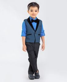 Robo Fry Three Piece Party Suit With Bow - Blue