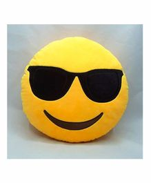 Frantic Cool Dude Smiley Plush Cushion - Yellow