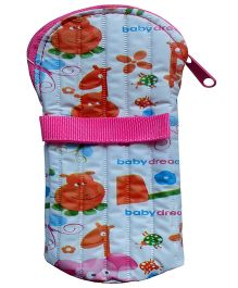 Morisons Baby Dreams Printed Feeding Bottle Cover Pink - Fits 125 ml Bottle