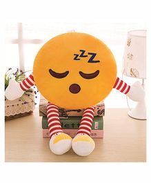 Frantic Sleeping Plush Cushion With Stripe Hands And Legs - Yellow