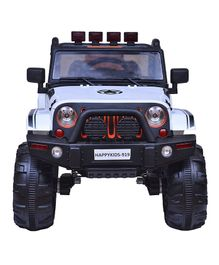 HappyKids Battery Operated Ride On Jeep - White