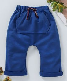 marshmallows Full Length Diaper Leggings - Royal Blue