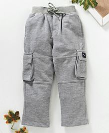 Marshmallows Full Length Cargo Track Pants - Grey