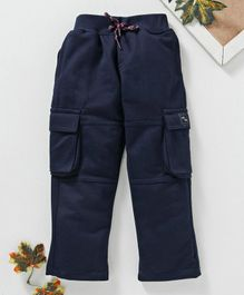 Marshmallows Full Length Cargo Track Pants - Navy
