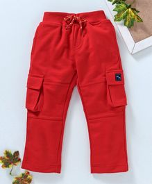 Marshmallows Full Length Cargo Track Pants - Red