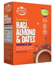 Early Foods Organic Sprouted Ragi, Almond & Date Porridge Mix - 200 gram