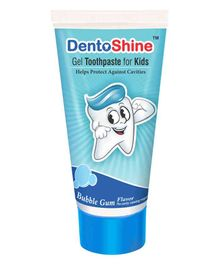 DentoShine Bubble Gum Flavoured Gel Toothpaste - 80 gm
