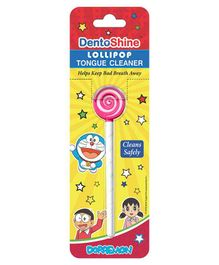 DentoShine Doraemon Lollipop Tongue Cleaner - Pink