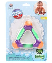 Ratnas Triangle Shaped Water Filled Teether (Color May Vary)