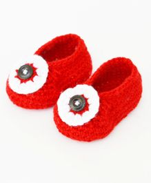 Love Crochet Art Crochet Booties - Red