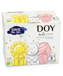 Doy Soap Assorted Pack Of 3 Multi Color - 75 gm Each