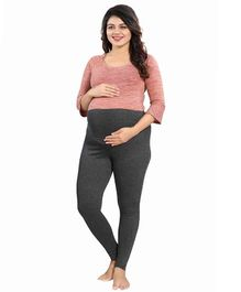 Mamma's Maternity Solid Full Length Maternity Legging - Dark Green