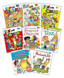Fun With Colours Colouring Books Set of 8 - English