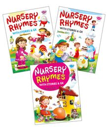 My First Nursery Rhymes Book Set of 3 Books - English