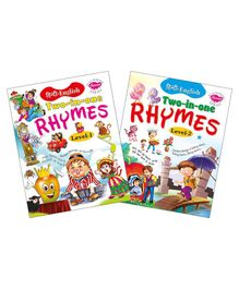 My First Nursery Rhymes Book Set of 2 Books - English & Hindi