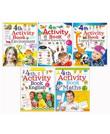 4th Activity Books Pack of 4 - English