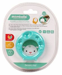 Mombella Geometry Sensory Sheep Teether - Sea Green