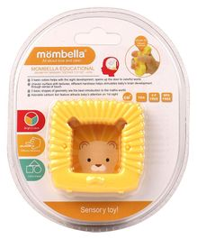 Mombella Geometry Sensory Lion Teether - Orange
