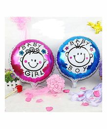 Amfin Baby Arrival Foil Balloon Pink & Blue - Pack of 2