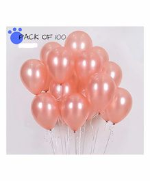 Amfin Metallic Balloons Pack of 100 - Rose Gold