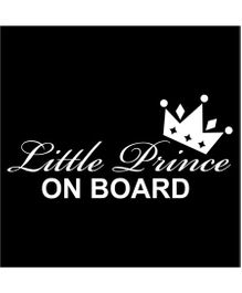 Fusion Graphix Little Prince On Board Sticker - Black