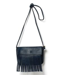 Little Hip Boutique Tassel Sling Bag - Blue