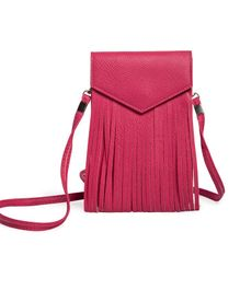 Little Hip Boutique Vertical Long Tassel Sling Bag - Pink