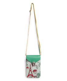Little Hip Boutique Printed Vertical Sling Bag - Green