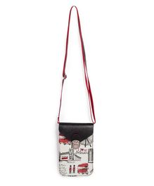 Little Hip Boutique Vertical Sling Bag - Black & Red
