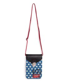 Little Hip Boutique Polka Dot Printed Vertical Sling Bag - Blue