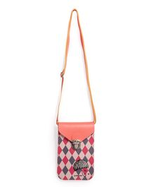 Little Hip Boutique Geometric Printed Vertical Sling Bag - Peach