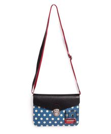 Little Hip Boutique Polka Horizontal Sling Bag - Blue