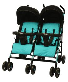 R for Rabbit Ginny And Johnny Twin Stroller The Compact Twin Stroller - Blue Black