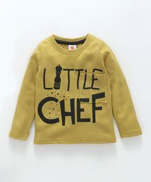 Scampy Little Chef Print Full Sleeves Tee - Yellow