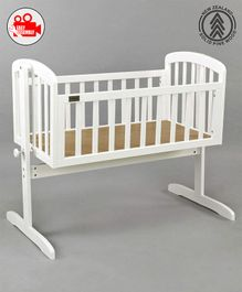 Babyhug Joy Cradle With Mosquito Net - White