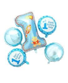 Shopperskart First Birthday Foil Balloon Pack of 5 - Blue
