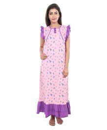 f55f953c3f 9teenAGAIN Watermelon Print Short Sleeves Nursing Nighty - Pink