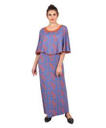 a5b91f288 9teenAGAIN Poncho Style Floral Print Nighty - Purple