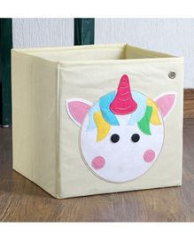 My Gift Booth Storage Box Unicorn Design - Off White