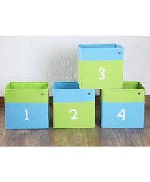 My Gift Booth Numbers Storage Box - Green & Blue