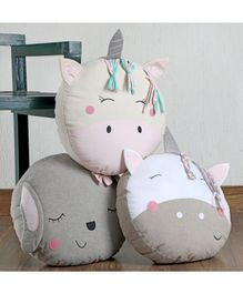 My Gift Booth Cushions Animal Design Grey Pink - Pack of 3