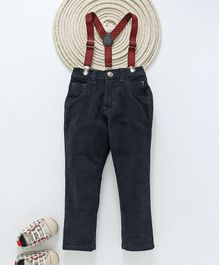 Gini & Jony Trousers With Suspenders - Navy Blue