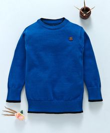 Mom's Love Full Sleeves Pullover Sweater - Blue
