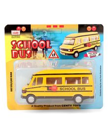 Centy Pull Back Action School Bus - Yellow