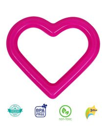 1st Step BPA Free Water Filled  Heart Shaped Teether - Pink
